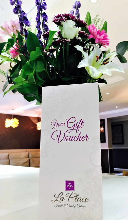 Gift Vouchers, available at La Place Hotel, Jersey